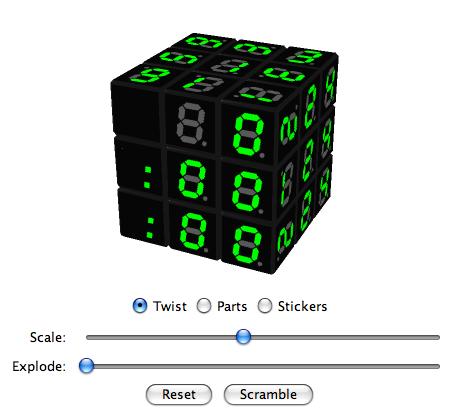 Virtual Cubes Rubik S Cube Picture Cubes Digital Clock