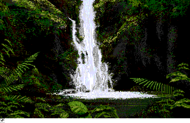 Waterfall Deluxepaint Demo Image An Atari Animation By Electronic Arts
